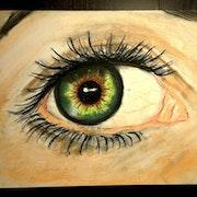 Oeil émeraude.