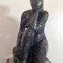 Aghate statue Nu d'art décoration -Aghate Statue Terracotta Sculpture Art.