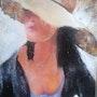 Femme au chapeau. Daniel Olion