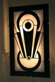 Applique murale Art Déco en Vitrail Tiffany «Tamara». Lumière Et Vitrail