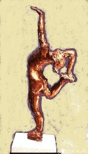 Eiskunstläuferin (1994) Bronze, «Biellmann-Pirouette». Hajo Horstmann