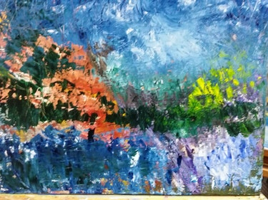 En el Lago. Carmen Spinoza