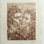 M. Dautry : Le baiser, dans les roses.. Historien d'art, Archéologue; Chercheur Free-L.