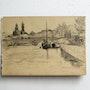 Oskar kokoschka (possiblement faux) : Fleuve, bâteaux, pont, sanctuaires, ville.. Historien d'art, Archéologue; Chercheur Free-Lance (Er)