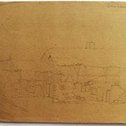 J. -B. C. Corot : Ferme à structure porteuse de bois et escalier extérieur. Recto. Historien d'art, Archéologue; Chercheur Free-L.