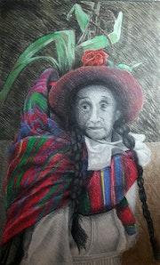Mujer con maiz en festival de cusco. Pablo Modugno