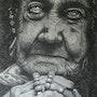 Mujer de tierra en blanco y negro. Pablo Modugno