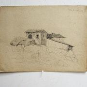 Jean-Baptiste Camille corot : Ferme sur des rochers.. Historien d'art, Archéologue; Chercheur Free-L.
