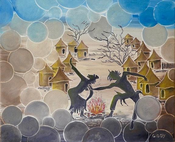 Dance africaine 460x380 mm. Gilbert Goy Gilbert Goy