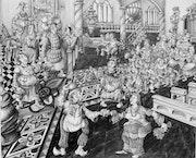 Le gros Chiquanous est invité a la farce du faux mariage du boulanger Oudart.
