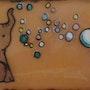 Le lapin et l'éléphant (bulles). Martine Levillain