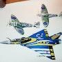 Mirage 2000 c est spitfire 340 sqd. Forangeart F. Baldinotti Peintre De l'air
