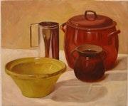 Bodegón nº 82, óleo sobre lienzo. Rico