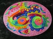 Méditation colorée pleine de fantaisie.