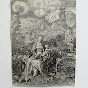 Albrecht durer & sadeler : Vierge à l'Enfant, aux allégories.. Historien d'art, Archéologue; Chercheur Free-L.
