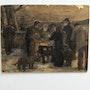 Anonyme : attribuable à Steinlen ? : Le Braséro ou Le grill des Pauvres.. Historien d'art, Archéologue; Chercheur Free-L.