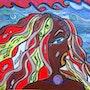 'Vulnérable Existence'acrylique sur toile, 40x40cm'La Genèse des Apatrides'. Stefanna