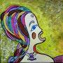 'La Reine Apatride'acrylique sur toile, 40x40cm'La Genèse des Apatrides». Stefanna