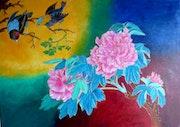 Oiseaux et fleurs.