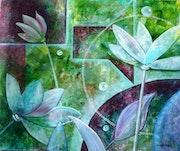Lotus - abstrait.