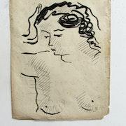 André derain : (attribuable à) : Étude de buste.. Historien d'art, Archéologue; Chercheur Free-L.