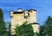Château de Hautségur en Ardèche.