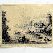 Claudius gelée : Un port, avec ruines. 1633.. Historien d'art, Archéologue; Chercheur Free-L.
