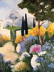 Paysage provençal.