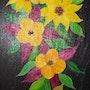 Fleurs sur ardoise 7. Gerard Flohic
