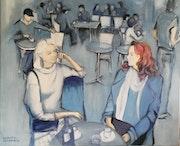 Terrasse de café à Bordeaux.