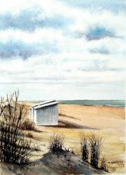 Cabine dans les dunes.