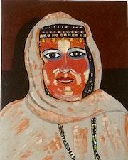 A desert Woman portrait..