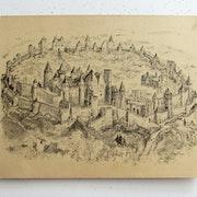 Albert robida : vue panoramique et archéologique de carcassonne. Historien d'art, Archéologue; Chercheur Free-Lance (Er)