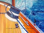 Winch a tribord.