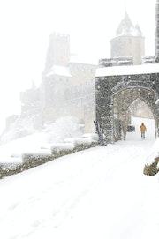 Carcassonne sous la neige - cn02.