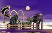 Un éléphanteau dans une baignoire : 226 plasma.