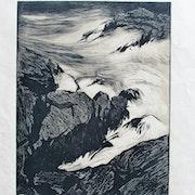 Cheffer Henry : Vagues se fracassant sur des rochers.. Historien d'art, Archéologue; Chercheur Free-L.