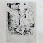 Lobel. - Riche Alméry : Bûcher, croix, femme, serpent, rayons venant du ciel.. Historien d'art, Archéologue; Chercheur Free-L.