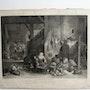 Surugue Louis : La Fileuse flamande (1740), d'après D. Téniers (1655).. Historien d'art, Archéologue; Chercheur Free-Lance (Er)