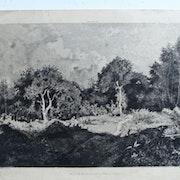 .Jacomin m. f. : Forêt de Marly, vue du Val de Gruye.. Historien d'art, Archéologue; Chercheur Free-L.