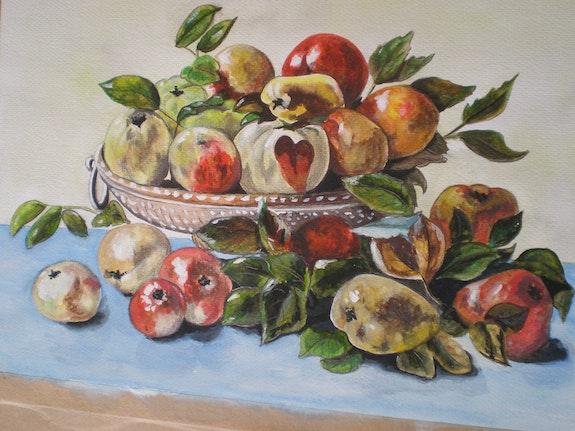 Nature morte aux fruits. Brigitte Leleu