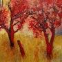 Red trees. Glenn Brady