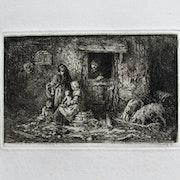 Jacque Charles : La vie à la ferme. 1846.. Historien d'art, Archéologue; Chercheur Free-L.