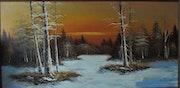Snowed twilight. Martin Castillo Molinar
