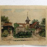 .Jacque Marcel : Barbizon (l'ancienne église ? ).. Historien d'art, Archéologue; Chercheur Free-L.