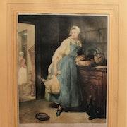 Brouet Auguste, d'après chardin : «La Chapardeuse».. Historien d'art, Archéologue; Chercheur Free-L.