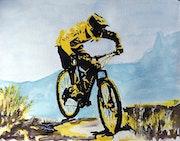 Mountain bike. L'aquarelle Autrement