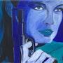 La femme au pistolet. Nathalie Vareille Sorbac