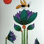 Lotus flowers with Bee. George Hutton Hunter