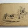 Dupré Victor : Versailles. Trianon. 1837 (10/10).. Historien d'art, Archéologue; Chercheur Free-L.